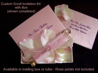 Buy online scroll kits do it yourself invitation scrolls buy here online see below to order your diy invitation scroll kits solutioingenieria Choice Image